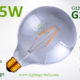 G125 LED Globe 1.5w smoked bulb