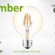 G80 LED Bulb 5W amber filament