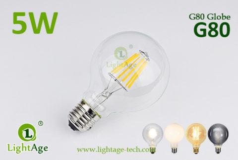 G80 LED Bulb 5W filament bulb