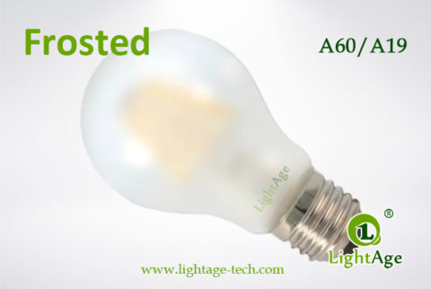 frosted A60 LED Filament Bulb