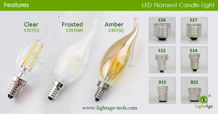 led-filament-candle-c35t-glass top colors