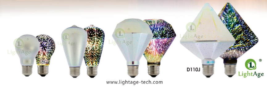 lightage 3d firework led bulb ONOFF effect