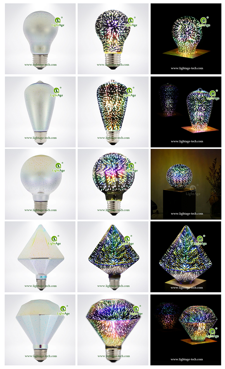 lightage 3d firework led bulb shapes