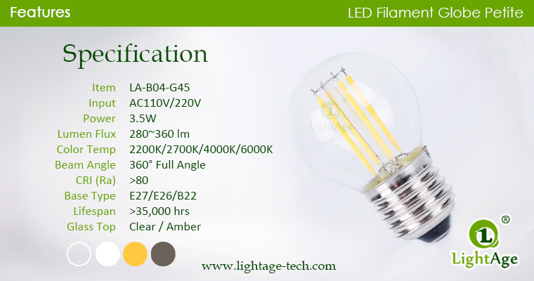 Globe-LED-Bulb-g45-4w specification