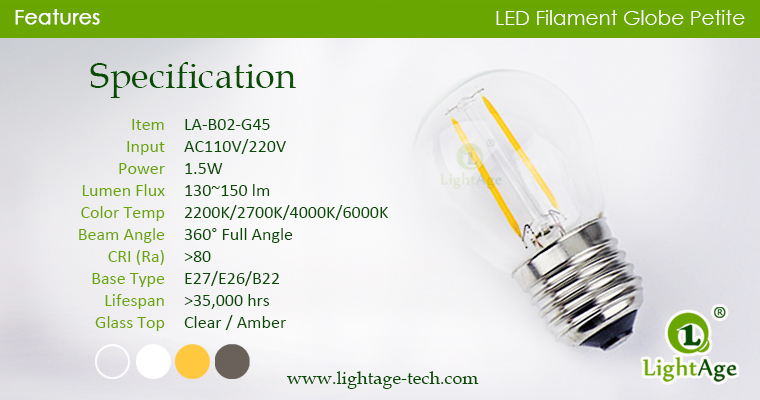 LA-B02-G45 led g45 specifications