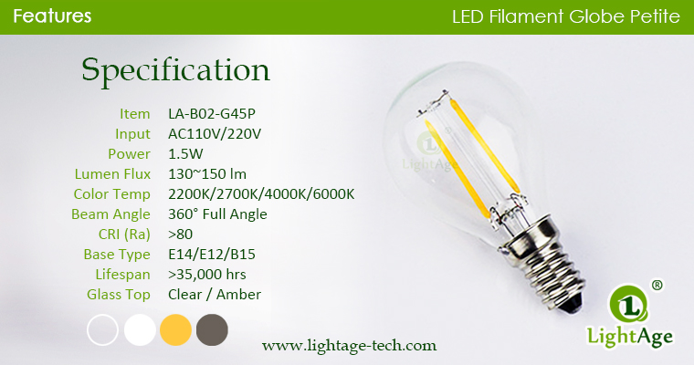 g45p-led-globe-2w Specification