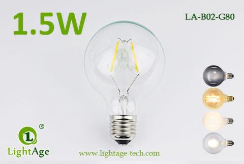 1.5w G80 LED Globe 2