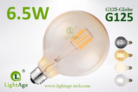 G125 filament LED8w amber