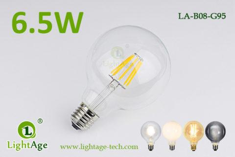 6.5w G95 filament LED