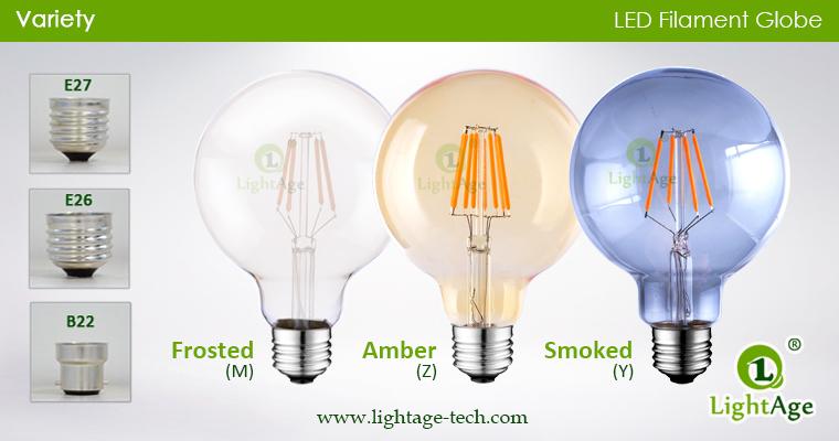 G globe bulbs glass tops