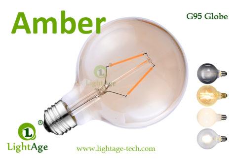 G95 LED Globe 1.5w amber