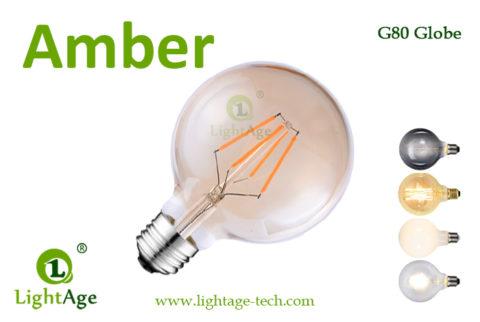 LED Globe G80 3.5W amber